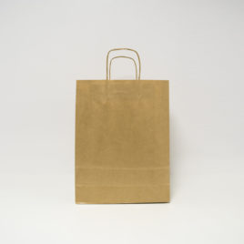 Bolsa de papel de asa rizada
