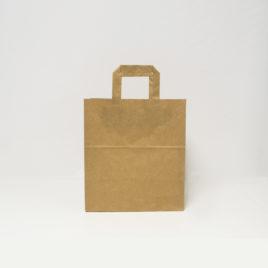 Bolsa de papel de asa plana