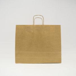 Bolsa de papel de asa rizada apaisada
